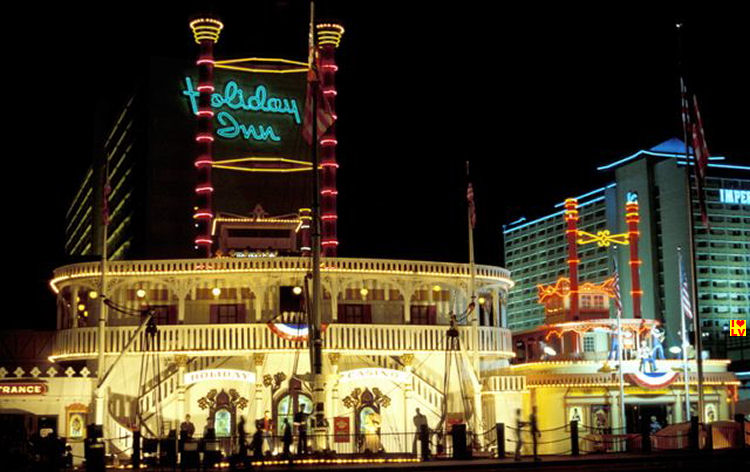 Front Holiday Inn Hotel and Casino Las Vegas Strip in 1980