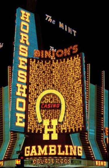 Binion's Horseshoe Casino downtown Las Vegas 1980, vintage