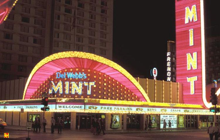 The Mint casino in Downtown Las Vegas in 1980, vintage