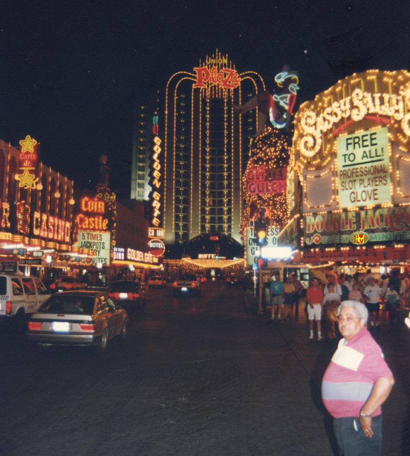 Fremont Street Downtown Las Vegas nineties