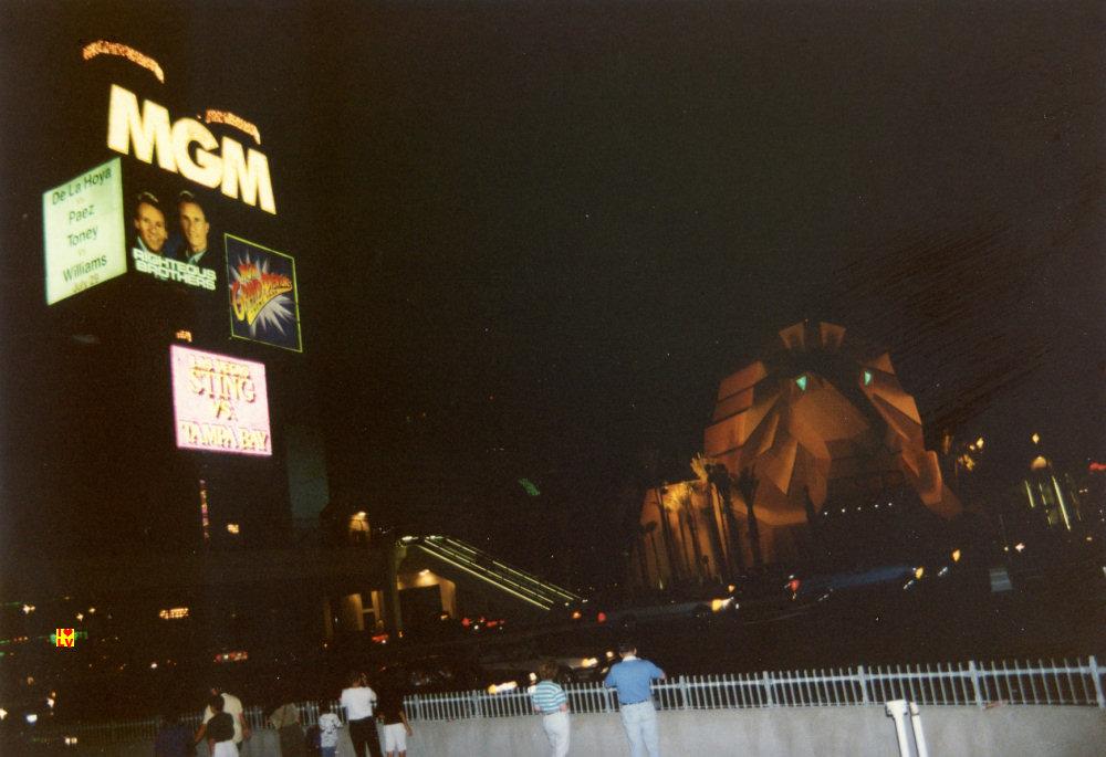 MGM Grand Hotel. entrance Lion 1994