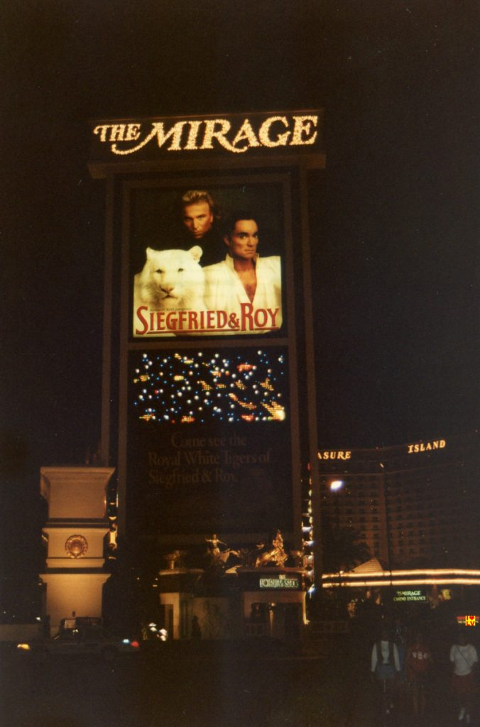 Sign The Mirage Hotel in Las Vegas with Sigfried and Roy, 1994